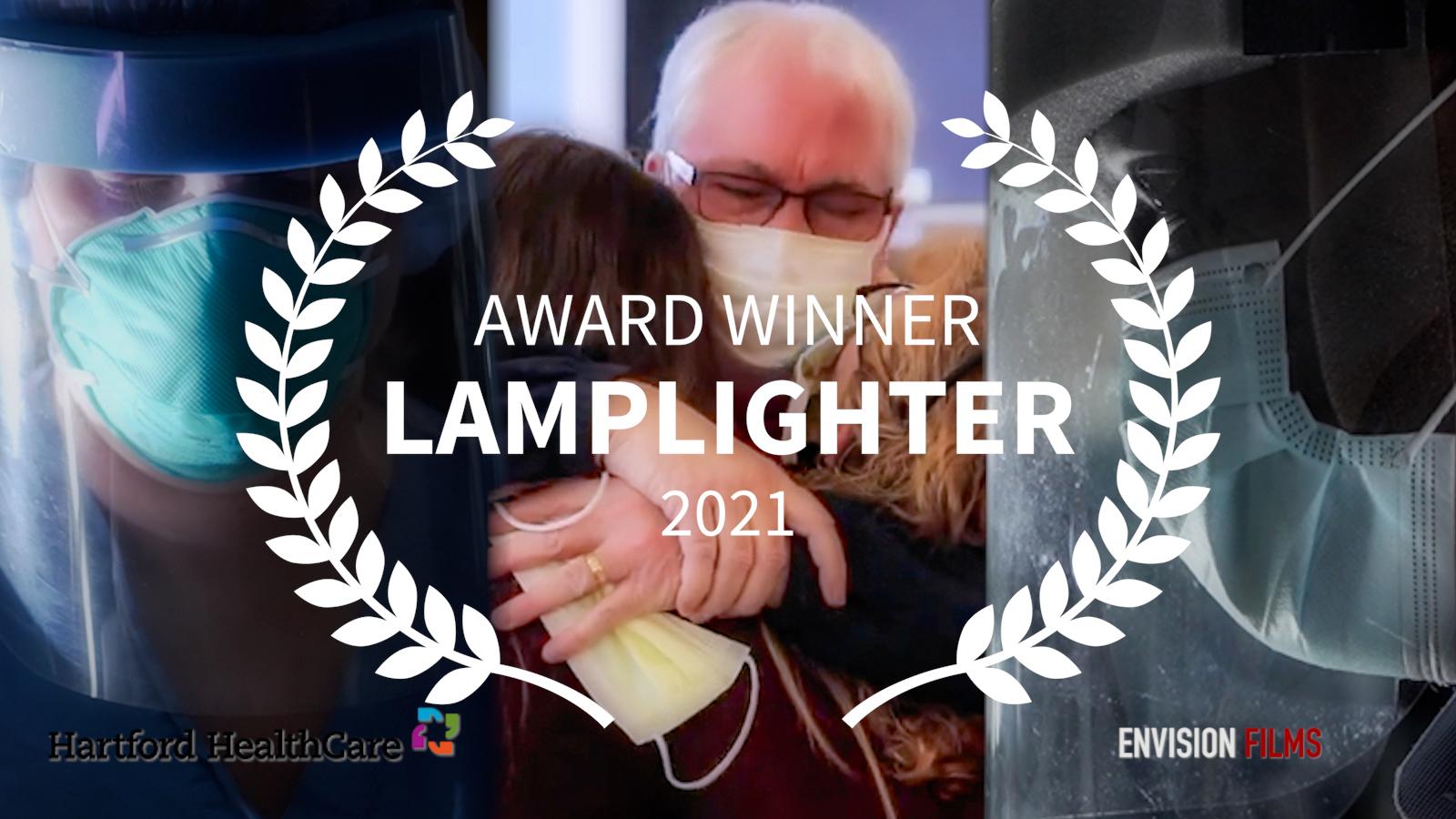 Jeffrey Teitler, Rebecca Stewart, Nick Dethlefsen and Hartford HealthCare win Lamplighter